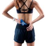 _T8 Women_s Sherpa Shorts_Black_back flask