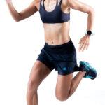 _T8 Women_s Sherpa Shorts_Black_running